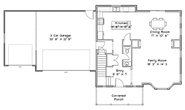 Traditional Floor Plan - Main Floor Plan Plan #1060-32