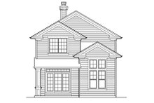 Dream House Plan - Traditional Exterior - Rear Elevation Plan #48-441