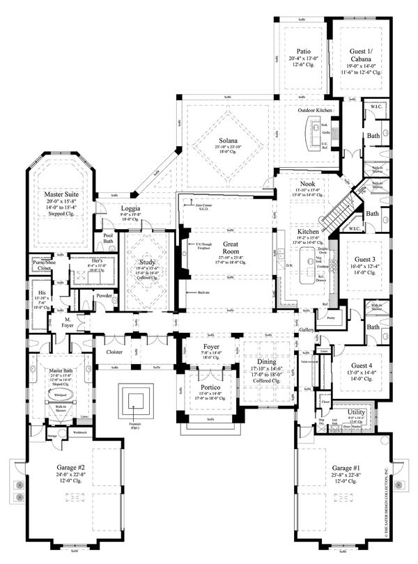 Contemporary Floor Plan - Main Floor Plan Plan #930-475