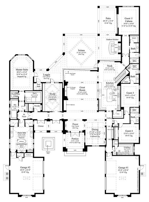 Contemporary Floor Plan - Main Floor Plan Plan #930-475