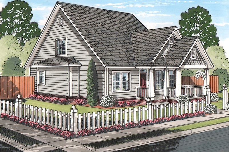 House Plan Design - Traditional Exterior - Front Elevation Plan #513-2161