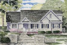 Ranch Exterior - Front Elevation Plan #316-262