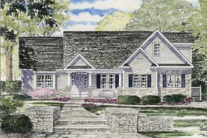 Home Plan - Ranch Exterior - Front Elevation Plan #316-262