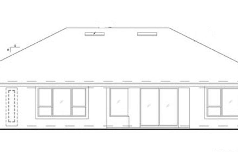 Mediterranean Exterior - Rear Elevation Plan #417-795 - Houseplans.com