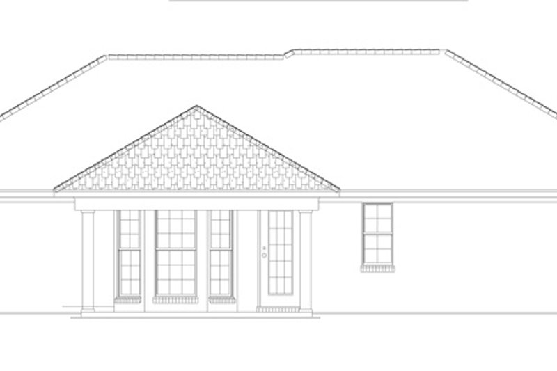 Colonial Exterior - Rear Elevation Plan #17-3129 - Houseplans.com