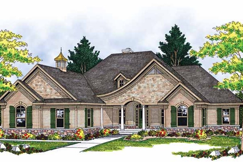 Country Exterior - Front Elevation Plan #70-1366