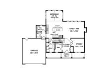 Colonial Floor Plan - Main Floor Plan Plan #1010-126