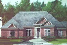Home Plan - European Exterior - Front Elevation Plan #119-109