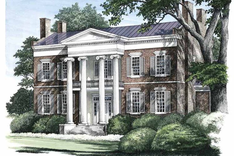 Classical Exterior - Front Elevation Plan #137-311