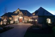 European Style House Plan - 5 Beds 5 Baths 4357 Sq/Ft Plan #929-893 Exterior - Front Elevation