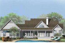 Country Exterior - Rear Elevation Plan #929-753