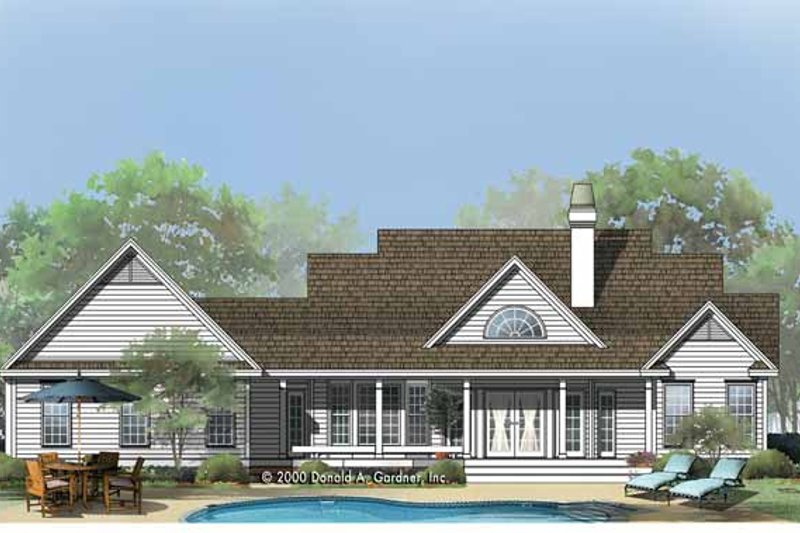 Country Exterior - Rear Elevation Plan #929-753 - Houseplans.com