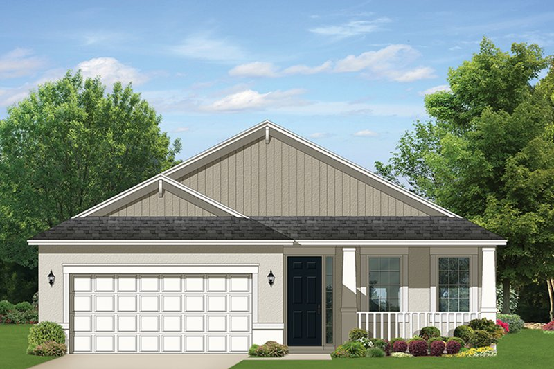 Ranch Exterior - Front Elevation Plan #1058-103