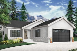 Country Exterior - Front Elevation Plan #23-2697