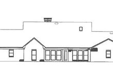 Farmhouse Exterior - Rear Elevation Plan #320-405