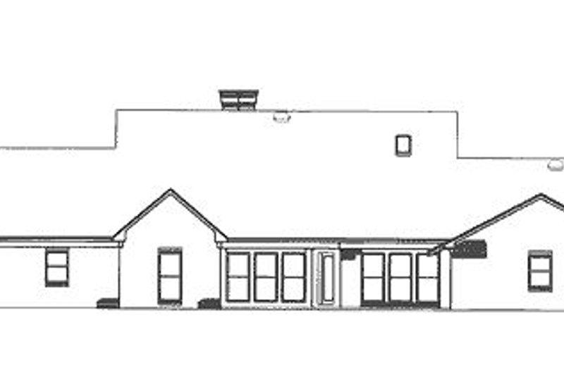 Farmhouse Exterior - Rear Elevation Plan #320-405 - Houseplans.com