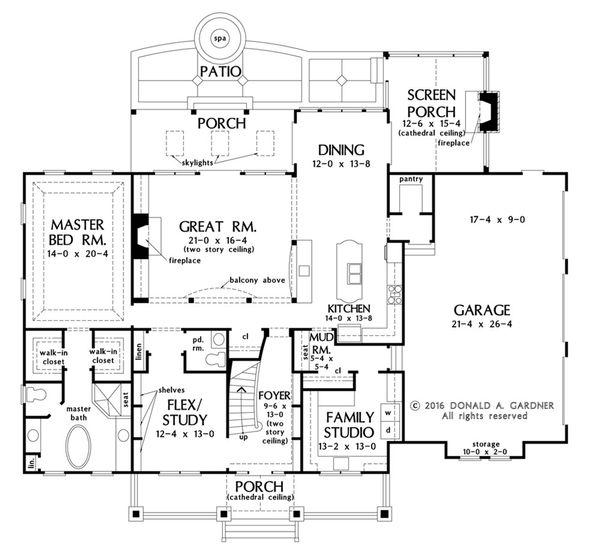 Craftsman Floor Plan - Main Floor Plan Plan #929-60