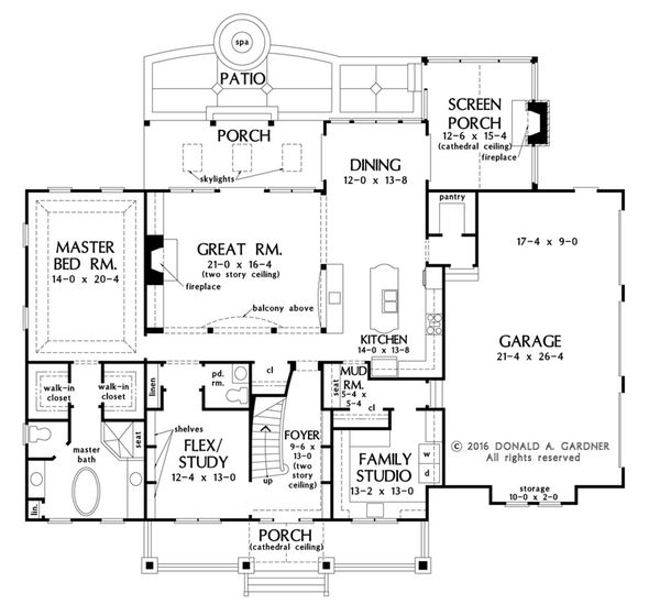Craftsman Floor Plan - Main Floor Plan Plan #929-60