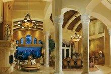 Architectural House Design - Mediterranean Interior - Family Room Plan #930-327