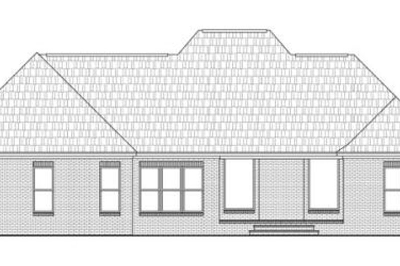 Southern Exterior - Rear Elevation Plan #21-271 - Houseplans.com