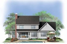 Country Exterior - Rear Elevation Plan #929-737