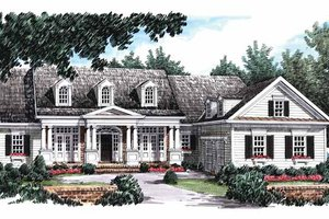 Home Plan Design - Colonial Exterior - Front Elevation Plan #927-815