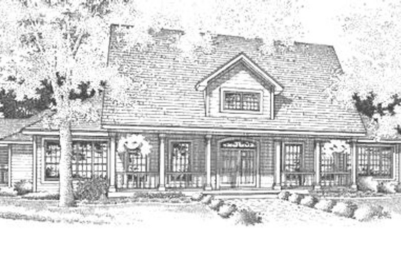 Dream House Plan - Country Exterior - Front Elevation Plan #320-465
