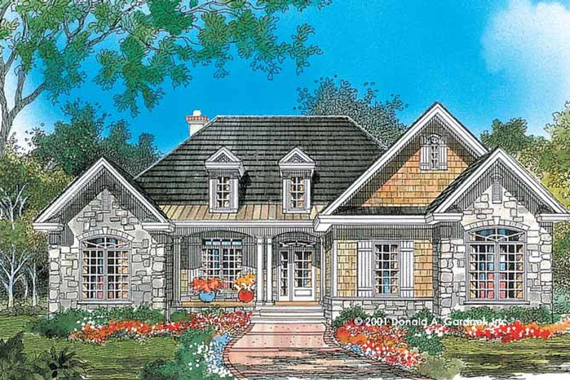Home Plan - Country Exterior - Front Elevation Plan #929-638