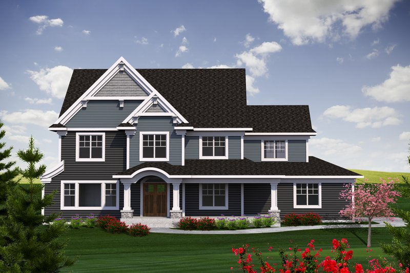 Craftsman Exterior - Front Elevation Plan #70-1226