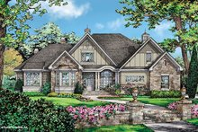 Dream House Plan - European Exterior - Front Elevation Plan #929-25