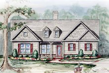 Architectural House Design - Country Exterior - Front Elevation Plan #54-236