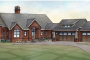 Traditional Style House Plan - 4 Beds 4 Baths 3881 Sq/Ft Plan #928-212 Exterior - Front Elevation