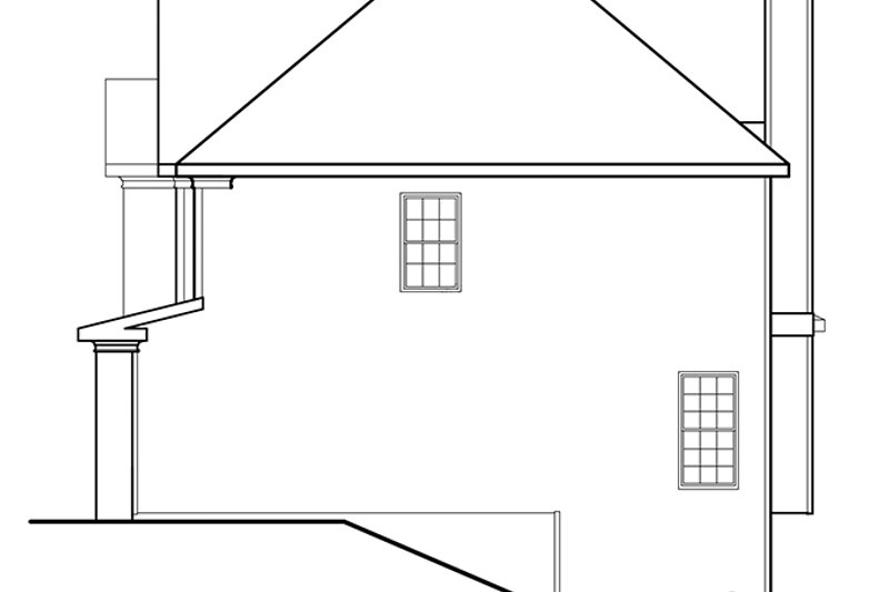 Traditional Exterior - Other Elevation Plan #927-193 - Houseplans.com