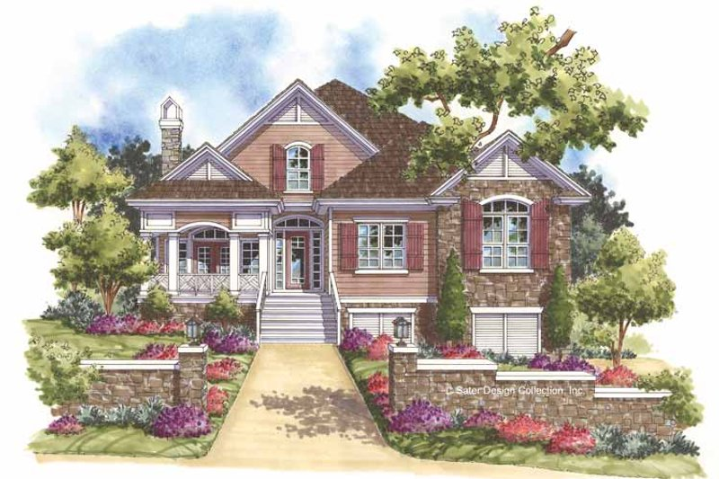 Traditional Style House Plan - 3 Beds 2 Baths 2137 Sq/Ft Plan #930-160 Exterior - Front Elevation
