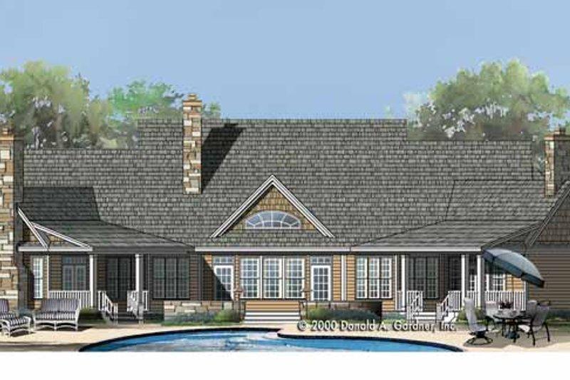 Country Exterior - Rear Elevation Plan #929-755 - Houseplans.com