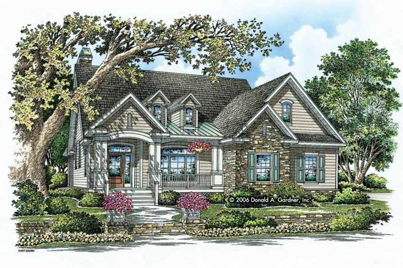 Craftsman Exterior - Front Elevation Plan #929-795