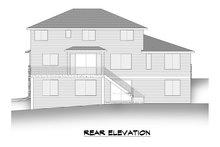 House Plan Design - Modern Exterior - Rear Elevation Plan #1066-129