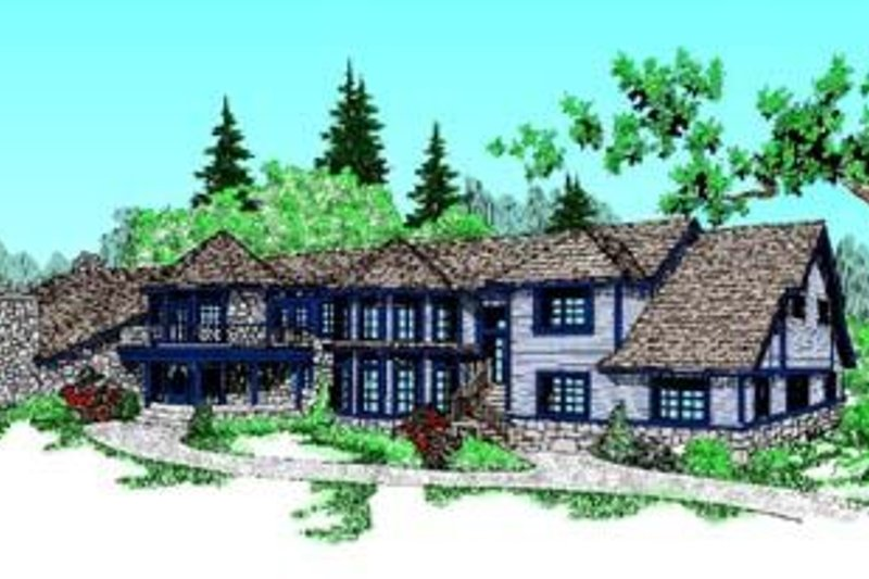 Traditional Exterior - Front Elevation Plan #60-375 - Houseplans.com