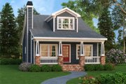 Craftsman Style House Plan - 4 Beds 3 Baths 1853 Sq/Ft Plan #419-254 Exterior - Front Elevation