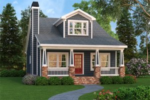 Dream House Plan - Bungalow style Craftsman design elevation