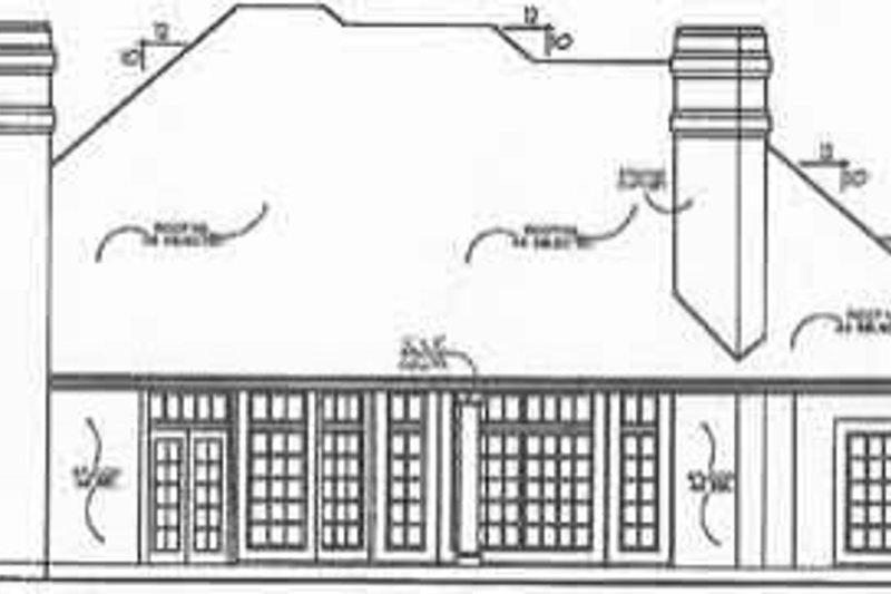 European Exterior - Rear Elevation Plan #40-177 - Houseplans.com