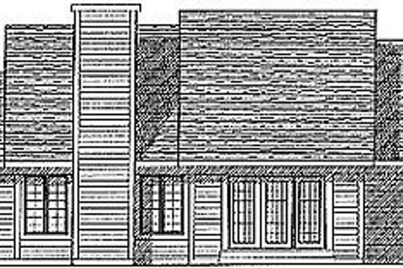 Traditional Exterior - Rear Elevation Plan #70-189 - Houseplans.com