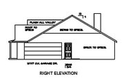 Ranch Style House Plan - 3 Beds 3 Baths 1804 Sq/Ft Plan #65-482 Exterior - Other Elevation