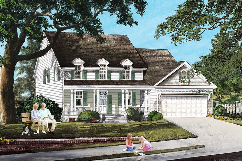 Home Plan - Traditional, Front Elevation