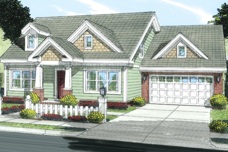 Country Exterior - Front Elevation Plan #513-2058