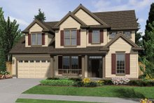 Dream House Plan - Front View - 2600 square foot Traditional home