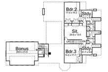 Classical Floor Plan - Upper Floor Plan Plan #119-252