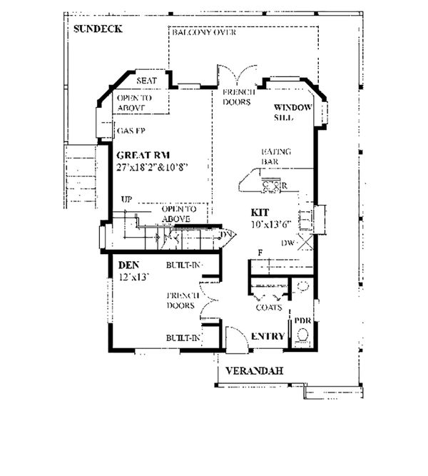 Cottage Floor Plan - Main Floor Plan Plan #118-134