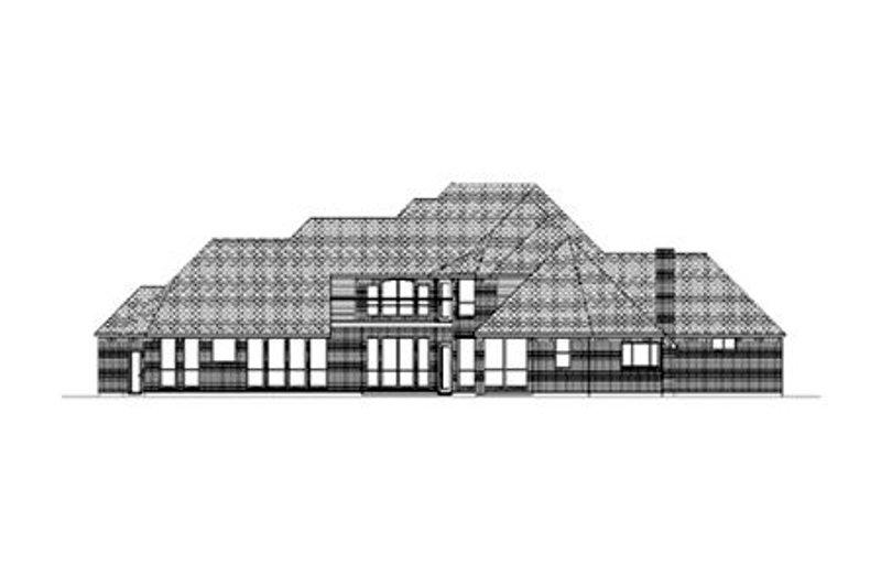 European Exterior - Rear Elevation Plan #84-435 - Houseplans.com
