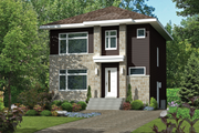 Contemporary Style House Plan - 3 Beds 1 Baths 1456 Sq/Ft Plan #25-4295 Exterior - Front Elevation